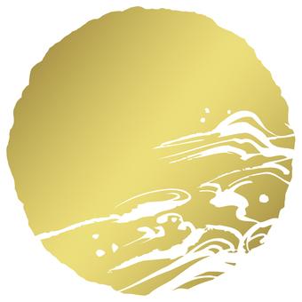 Rough circle b _ gold gold transpiration _ cs