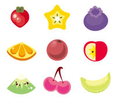 Cute fruit - set