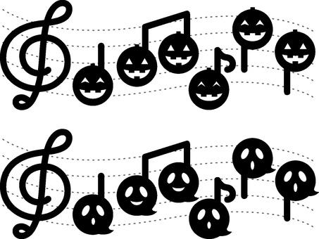 Sheet music of Halloween
