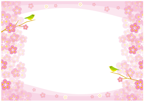 New Year plum flower background