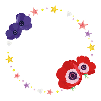 Frame of a star and an anemone