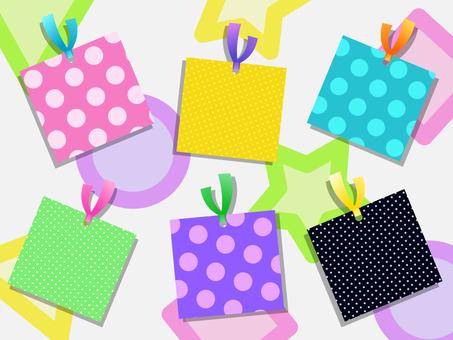 Colorful pop card set