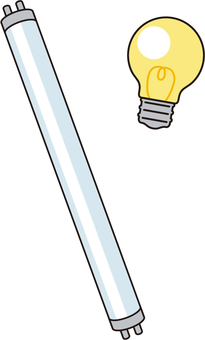 Fluorescent lamp and light bulb