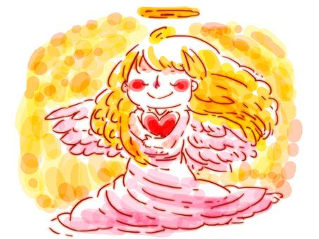 【Handwritten】 Angel of Heart