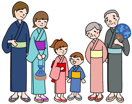 Yukata with family