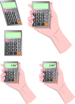 Calculator calculator calculator price hand