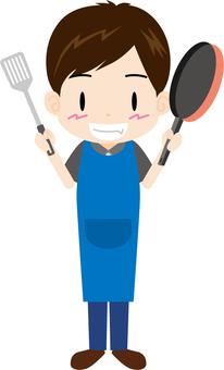 男人(做飯)