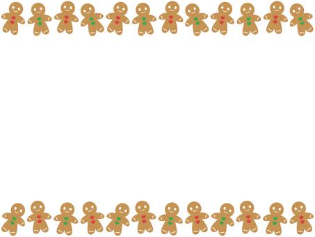 Gingerman cookies frame