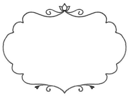 Beautiful frame elegant black and white