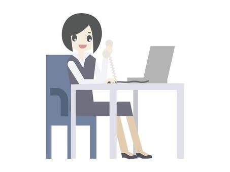 Lavoro Ufficio Clipart : Free cliparts business female computer illustac