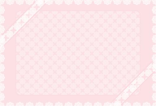 핑크 레이스 리본 축하 카드