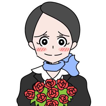 Scarf woman rose rose