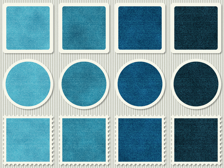 Denim seal stamp square round circle