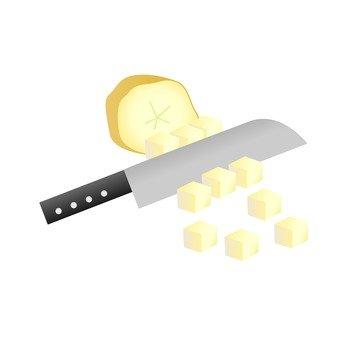 Potato slices of potatoes