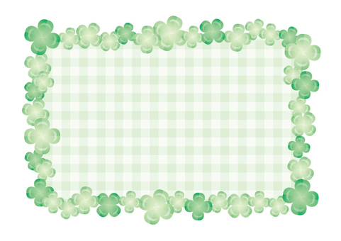 Clover and check frame 01