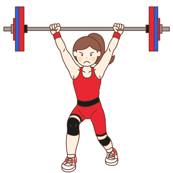 Weight lifting player (female)