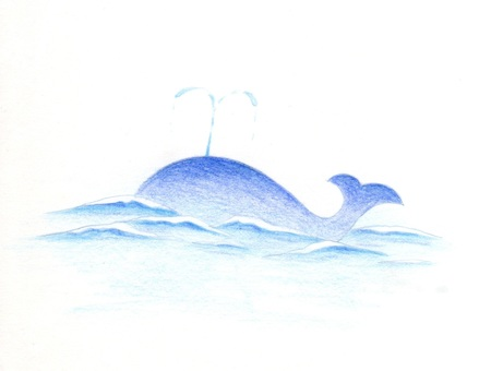 Illustration of a hot summer whale