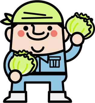 Uncle fairy lettuce farmer