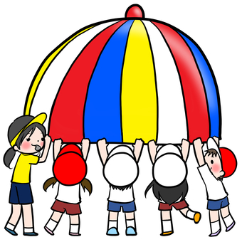 Athletics para balloon pulling child