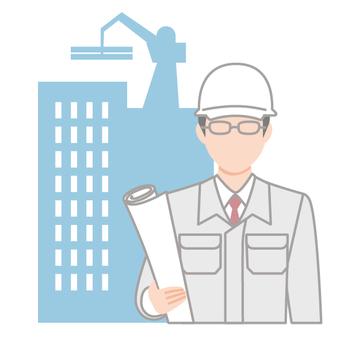 Site supervisor icon Construction site helmet