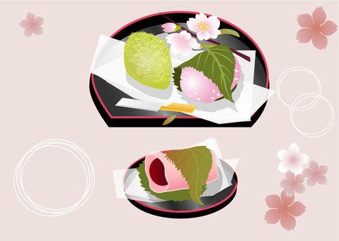 桜餅うぐいす餅