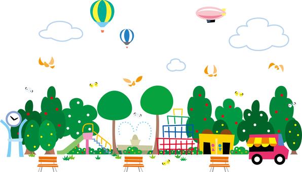 Park square playground