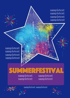Summer event background Fireworks