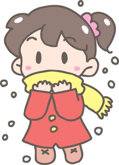 Snow and scarf