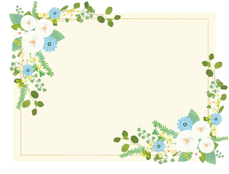 White flower card