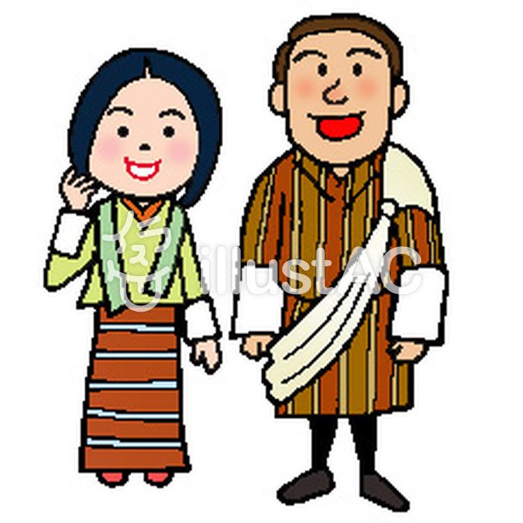 ブータン世界の人々イラスト No 1602492無料イラスト
