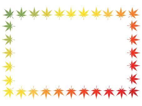 Graduated frame of autumn leaves