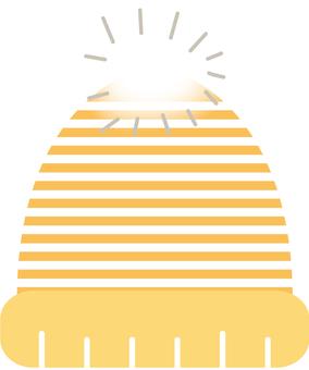 Knit hat _ yellow