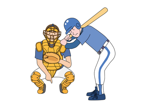 Batter and catcher 1