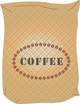 Coffee bean hemp bag