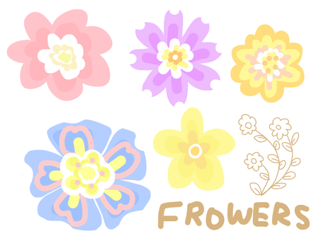 Multicolored flower material