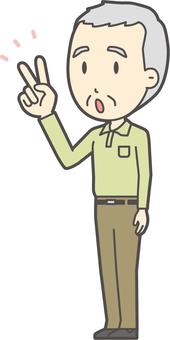 Grandfather polo shirt green-214-whole body