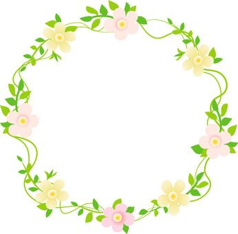 Flower frame frame