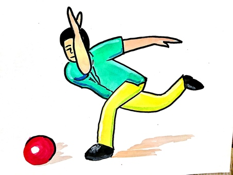 Bowling release (follow through)