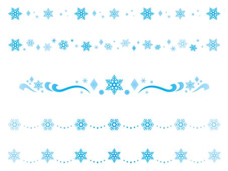 雪の結晶のライン