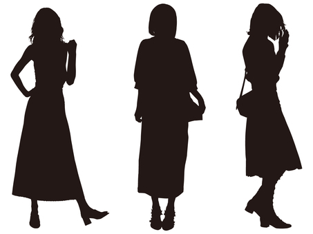 Female silhouette (Fashion 013)