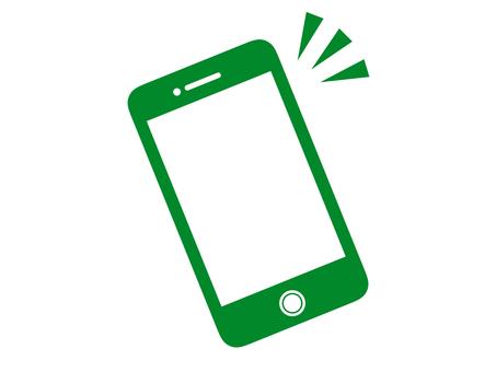 Silhouette Smart phone Mobile green