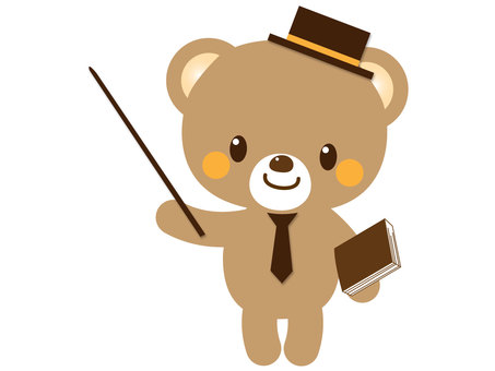 A bear with a pointer
