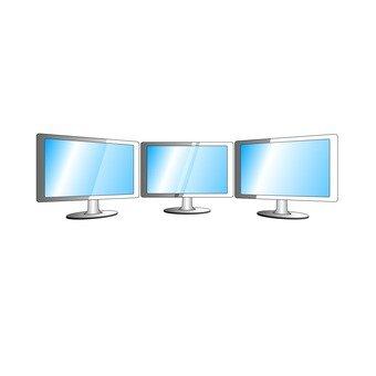 Triple monitor