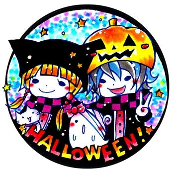 Halloween hand-drawn wind