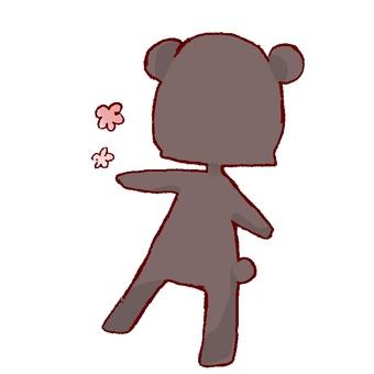 熊的後視圖