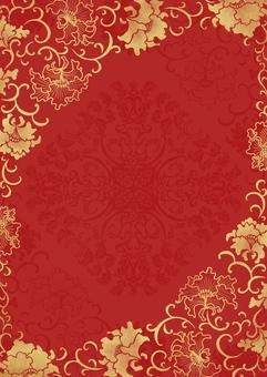 중국 바람꽃 무늬 테두리 배경