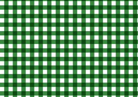 Gingham check (green)