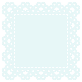 Square lace (light blue)