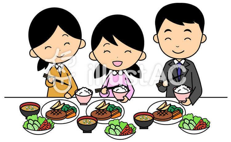 家族で食事イラスト No 479277無料イラストならイラストac