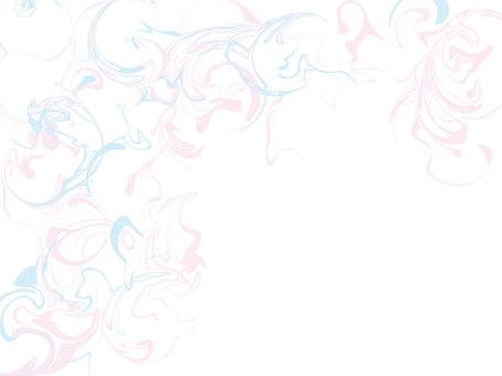 粉色和藍色的大理石背景